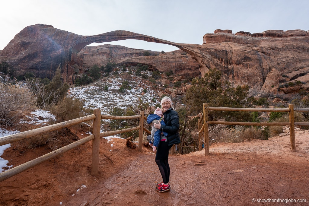 Delicate Arch trail with kids