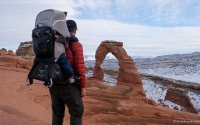 Hiking Delicate Arch with Kids